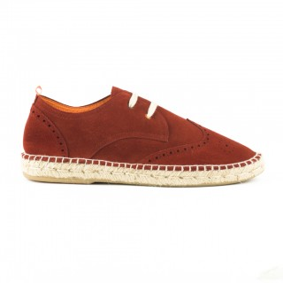 Men's red english Leather Oxford