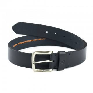 Marine leather belt for men