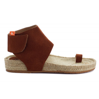 copy of Brown leather Ibiza jute sandals