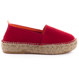 Women's Red Leather Camping